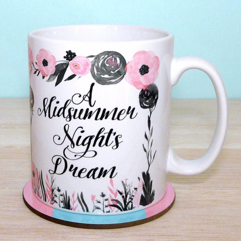 "Mug - Shakespeare - ""Though She be but Little, She is Fierce""-Mug-Book Lover Gifts"