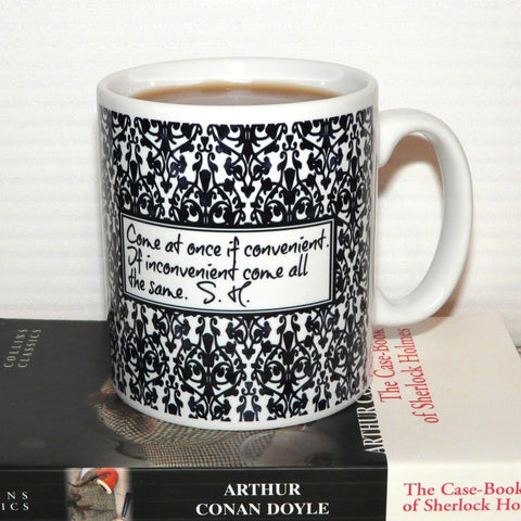 "Mug - Sherlock - ""Come at once if convenient..."""