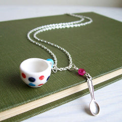 Necklace - Tea Cups - Various Colours