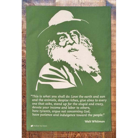 Tea Towel - Radical - Walt Whitman