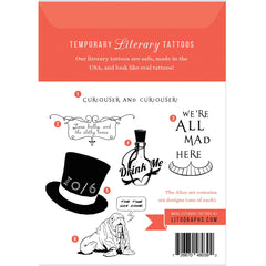 Temporary Tattoos - Alice's Adventures in Wonderland-Book Lover Gifts