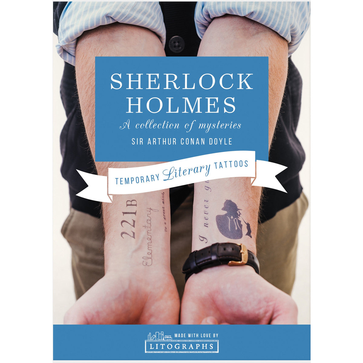 Temporary Tattoos - Sherlock Holmes-Book Lover Gifts ...