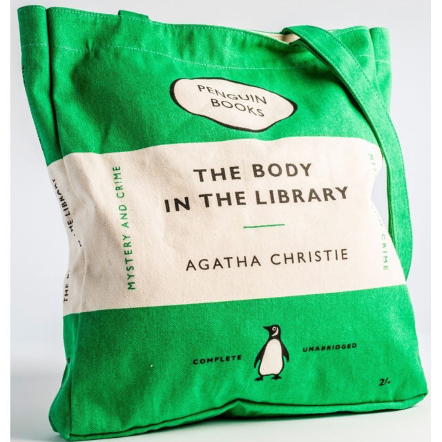 Book Bag - The Body in the Library - Penguin-Bag-Book Lover Gifts