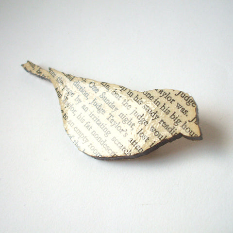 Book Brooch - Handmade - Finch - To Kill a Mocking Bird
