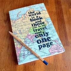 Travel Journal / Notebook - The World is a Book