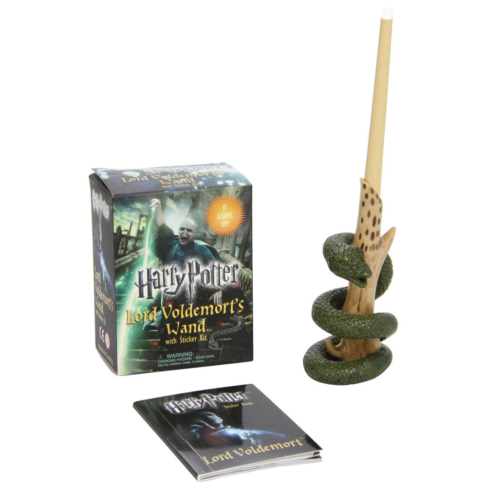 Voldemort's Light Up Wand - Harry Potter Mini Sticker Kit-Game-Book Lover Gifts