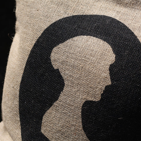 Cushion Cover - Jane Austen Silhouette-Cushion-Book Lover Gifts
