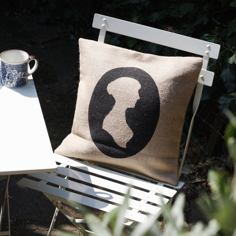 Cushion Cover - Jane Austen Silhouette