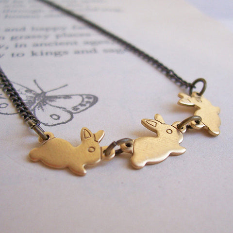 Necklace - Watership Down - Rabbits