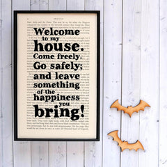 Book Print - Welcome to my House - Dracula-Print / Poster-Book Lover Gifts