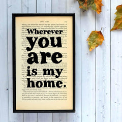 Book Print - Wherever You Are is My Home - Jane Eyre-Print / Poster-Book Lover Gifts