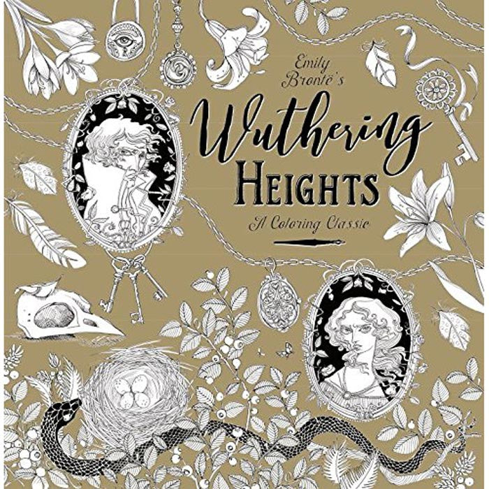 Colouring Classic Book - Wuthering Heights - Bronte