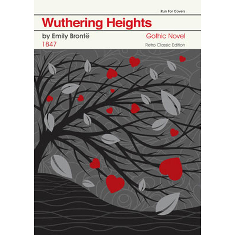 Print - Retro Classic Book Cover - Wuthering Heights-Print / Poster-Book Lover Gifts