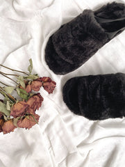 Chunky Faux-Fur Slippers - fleurapeutic