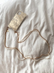 Copy of Pearl x Cuban Chain Phone Strap - fleurapeutic