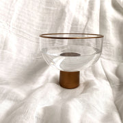Gold Rim Bowl Vase (M) - fleurapeutic