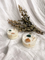 Crystal Infused Scented Soy Wax Candle