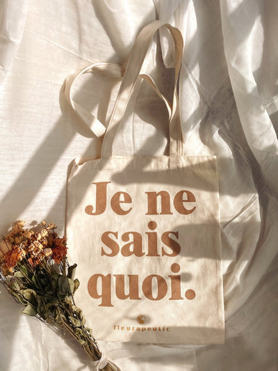 Je ne sais quoi Canvas Tote Bag - fleurapeutic