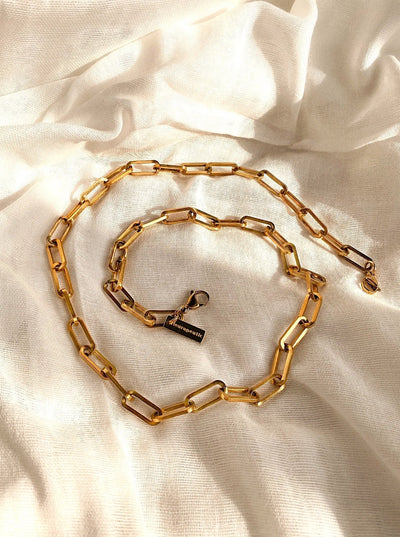 Link Chain Mask Chain -Stainless Steel/Gold-Plated- - fleurapeutic