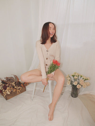 Rib Knit Cardigan Lounge Set - fleurapeutic