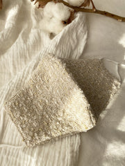 Wool Knit Face Mask - Cream Teddy - fleurapeutic