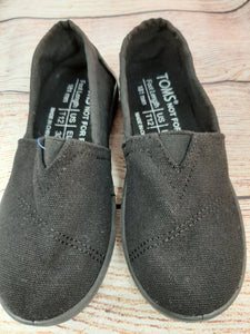 Toms New Black Canvas Slop On sz 1