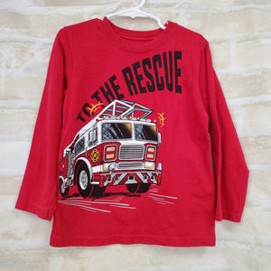 Garnimals boys shirt red pullover L/S 5