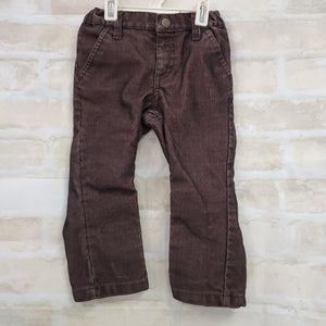 Arziona Jeans boys pant brown/black corduroy buttons zips 18-24m