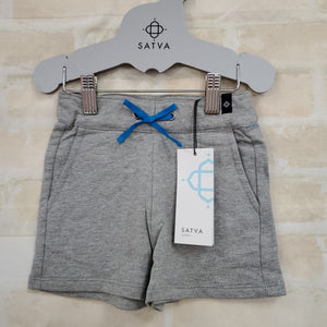 Satva New boy/girl shorts gray organic cotton ties 3T