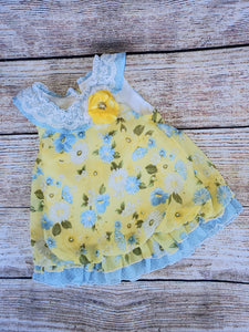 Baby Girl yellow flower dress sz 3-6 months