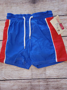 "Boys New "" Island Fox"" swim trunks sz4"