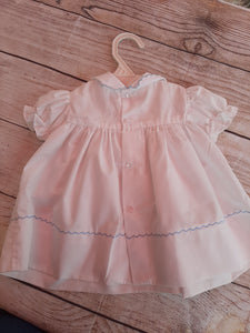 Vintage Hand Smocked Duckie Dress sz 6-9 mo
