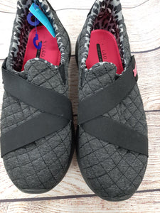 US Polo Assoc. Quilted Black Slip Ons sz 8.5