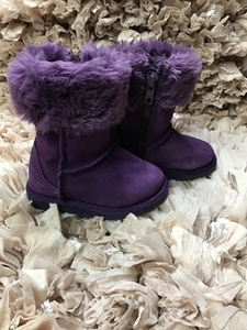 Circo Purple Fur Suede Boots Snow sz 5