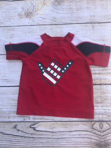 Old Navy Flag Swim Top Sz 6-12mo