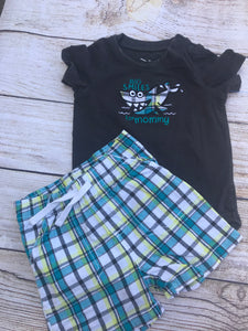 Jumping Beans Boys 2pc Short Set Sz 12 m