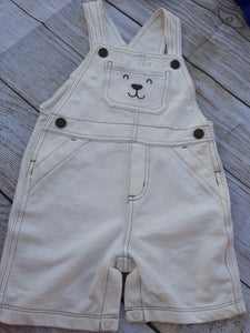 Carter's NWOT White Bear Shotralls Sz. 18 mo