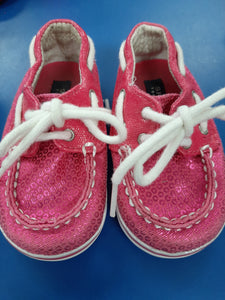 Sperry Top Sider Pink Sparkle sz 3