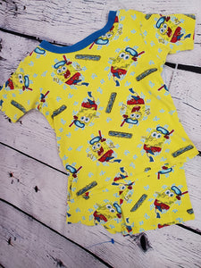 Nickelodeon 2pc top & shorts spongebob set sz 4