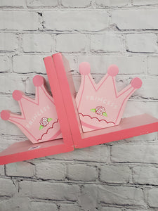 Princess pink book ends