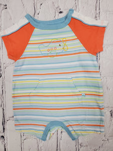 Children's place baby boy striped romper sz nb