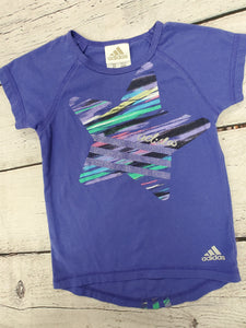 Adidas girls purple s/s top sz 2