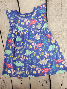 Wonder Nation girls dress blue print 18m