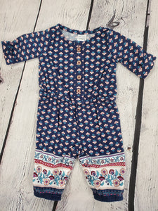 Carter's girls romper Navy print nb