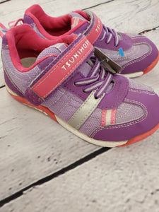 Tsukihoshi girl shoes purple velcro 10