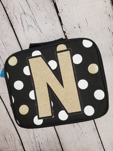 "Girls lunchbox black ""N"""