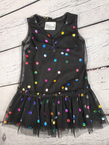 Hello gorgeous girls dress black 12m