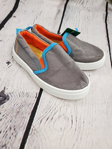 Oomphies boys shoes gray slip ons 9