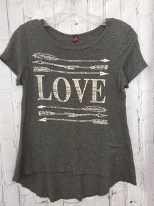 Heart girls top gray 14