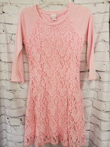 Xhilaration girls dress pink  L/S 10/12